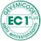 Zertifiziert durch GEV-EMICODE ®,  EC 1PLUS – sehr emissionsarm.